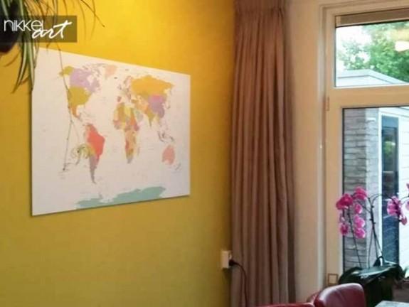 foto auf alu dibond weltkarte. Black Bedroom Furniture Sets. Home Design Ideas