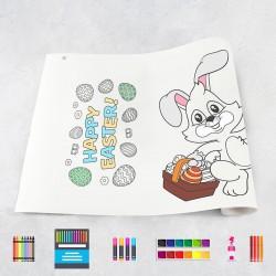 Zeichnungen auf Rolle Ostern
