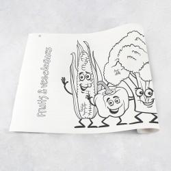 Zeichnungen auf Rolle Obst und Gemüse