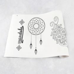 Zeichnungen auf Rolle Mandala 1