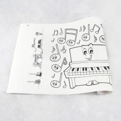 Zeichnungen auf Rolle Musik