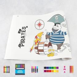 Zeichnungen auf Rolle Piraten
