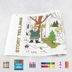 Zeichnungen auf Rolle Geschichten
