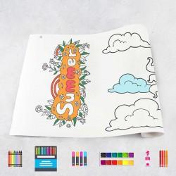Zeichnungen auf Rolle Sommer