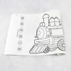 Zeichnungen auf Rolle Zug