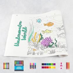 Zeichnungen auf Rolle Unterwasserwelt