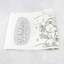 Zeichnungen auf Rolle Winter