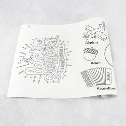 Zeichnung auf Rolle Alphabet A-H