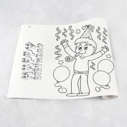 Zeichnungen auf Rolle Geburtstag