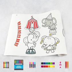 Zeichnungen auf Rolle Zirkus
