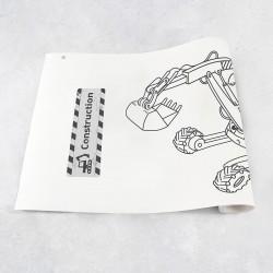 Zeichnungen auf Rolle Baumaschinen