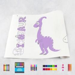 Zeichnungen auf Rolle Dinosaurier