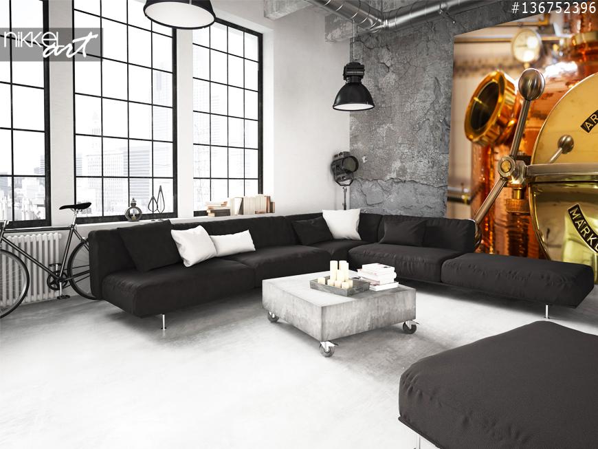 mysteri se wanddekoration ein foto auf acrylglas alte verlassene geb ude. Black Bedroom Furniture Sets. Home Design Ideas