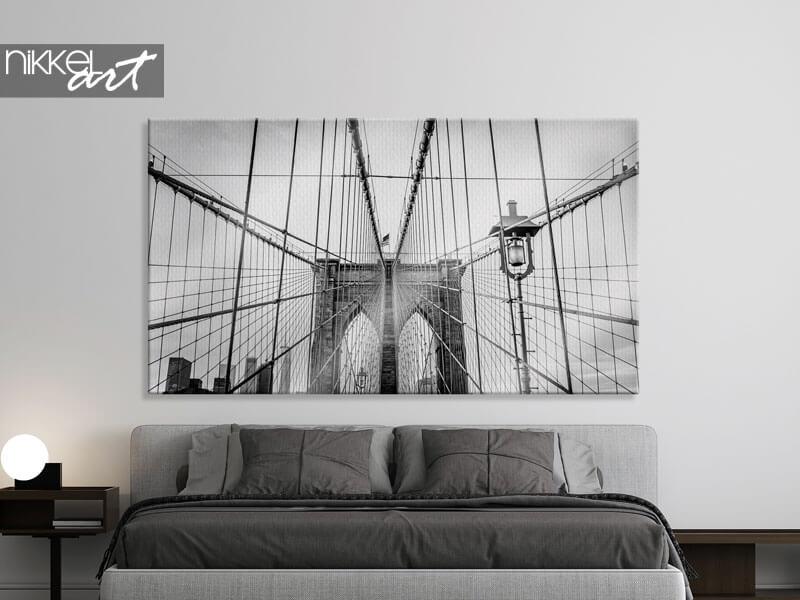 Foto auf Leinwand Brooklyn Bridge in New York