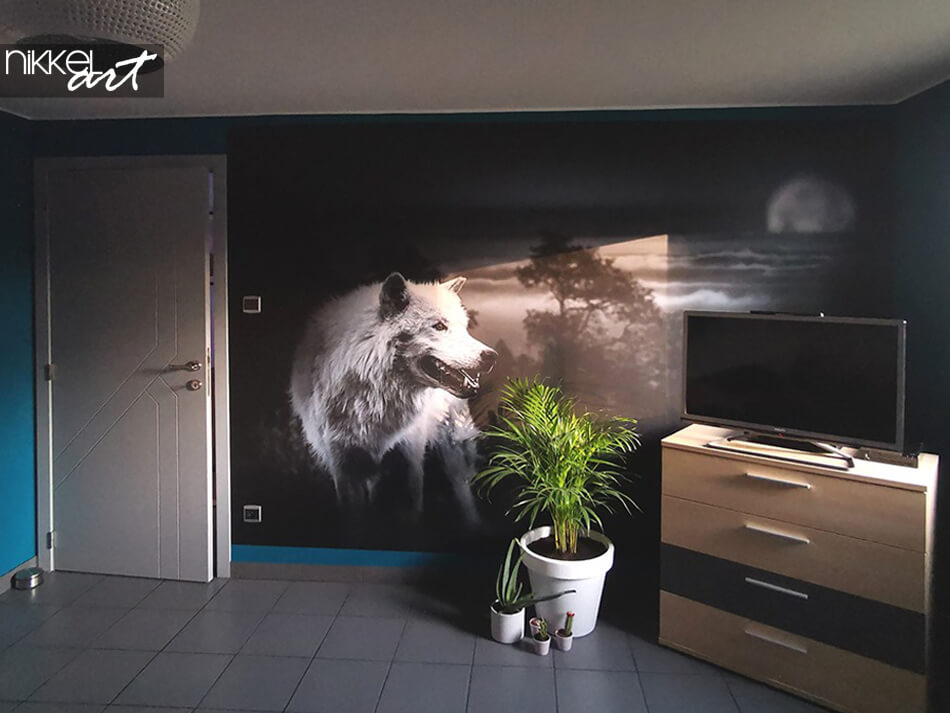 fototapete wolf