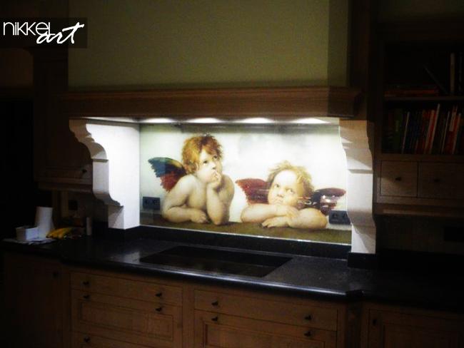 küchenrückwänd glas