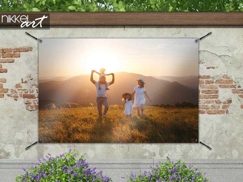 Bestellen Sie ein Gartenposter mit Ihrem eigenen Foto