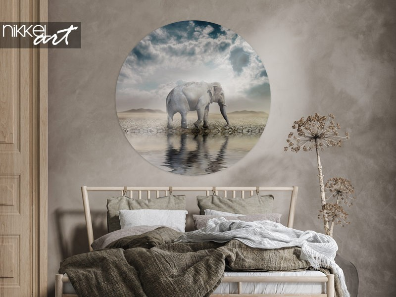 8 x Elefanten als Wanddekoration