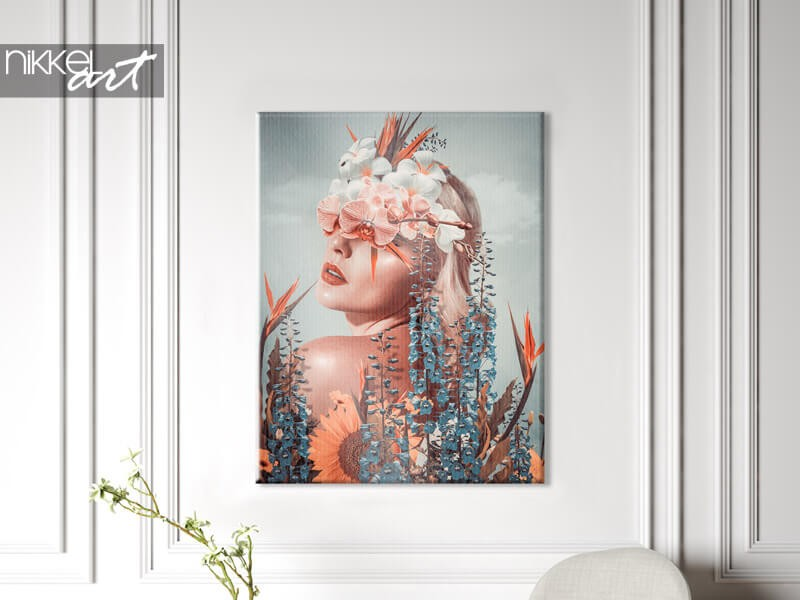 Ein Foto auf Leinwand ist günstig und schön
