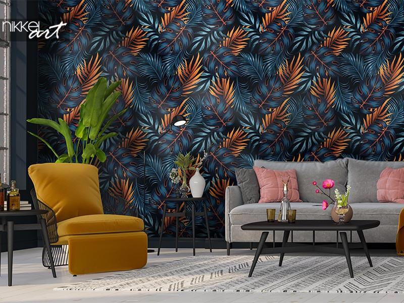 Fototapete im Wohnzimmer: Inspiration und Ideen