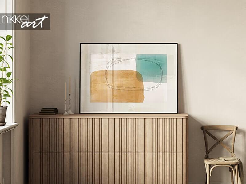 Kunst an der Wand: Minimalistische Poster