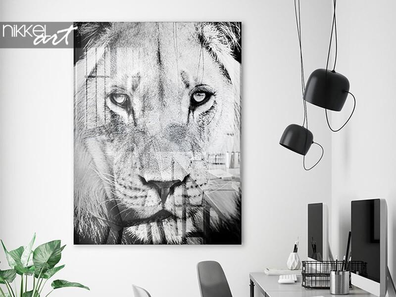 Exklusive kunst: ein schwarz-weiss-foto auf acrylglas