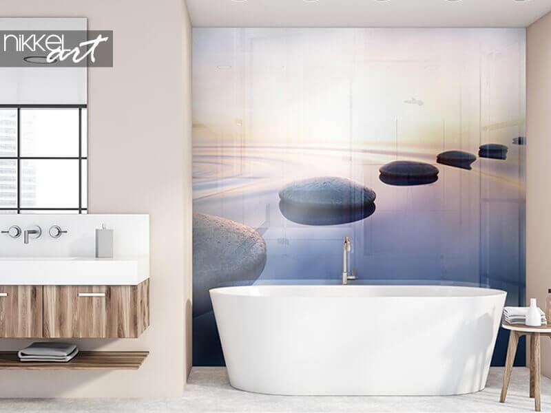 Verleihen Sie Ihrem Badezimmer mit einem Foto Rückwand  Atmosphäre