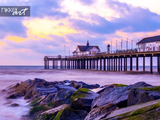 Pier in southwold in UK