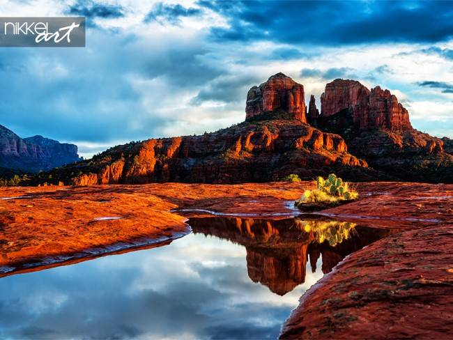 Cathedral Rock widerspiegelt Sedona Arizona