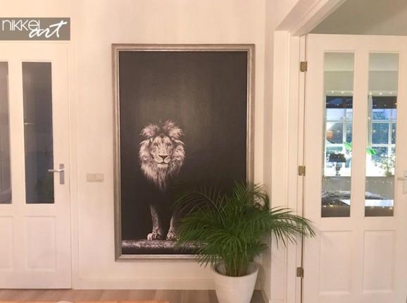 Fototapete Löwe in Schwarz und Weiß