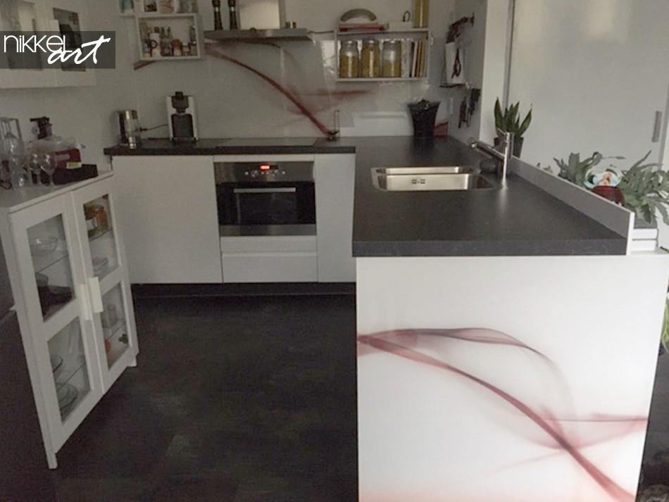 Küchenrückwand Acrylglas Abstract Wave