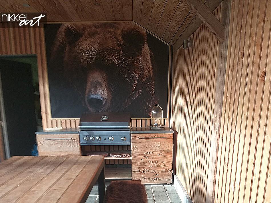 Foto Braun bär auf Gartenposter