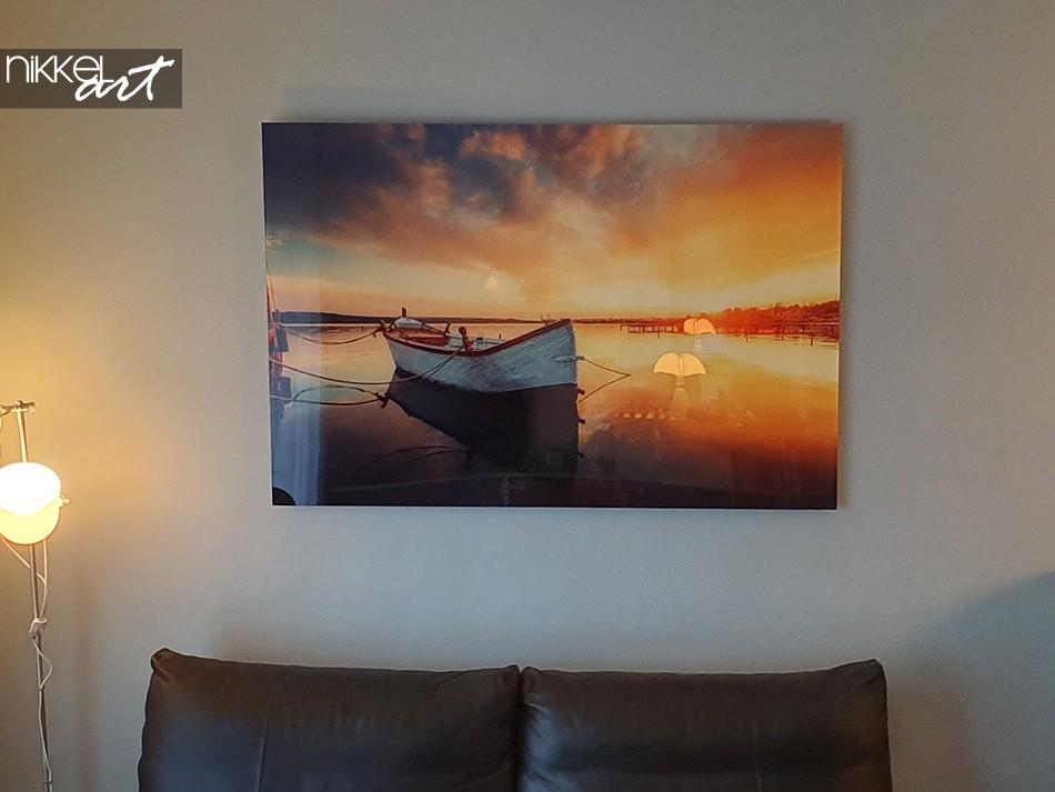 Foto auf Acrylglas Boot in Meer