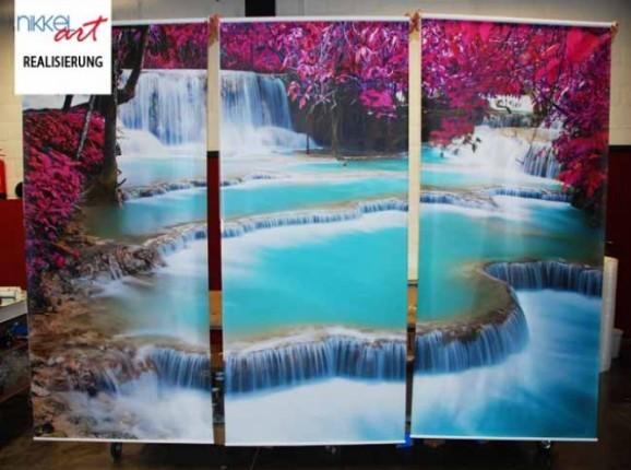 Bedruckte rollos Wasserfalle