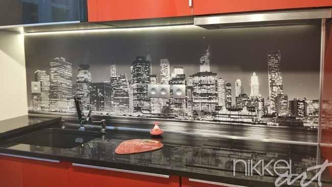 foto k chenr ckwand new york. Black Bedroom Furniture Sets. Home Design Ideas