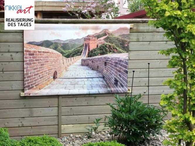 Foto auf Gartenposter Chinesische Mauer