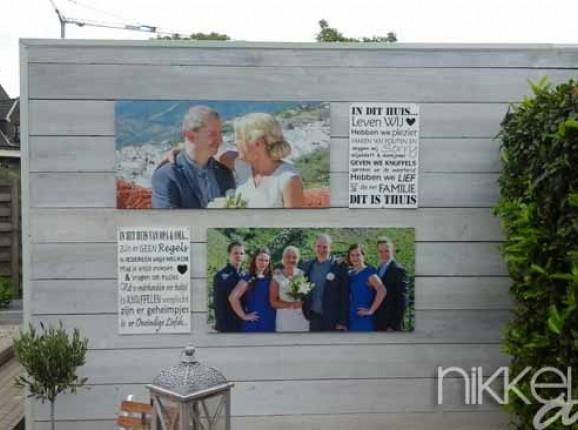 Foto auf Gartenposter