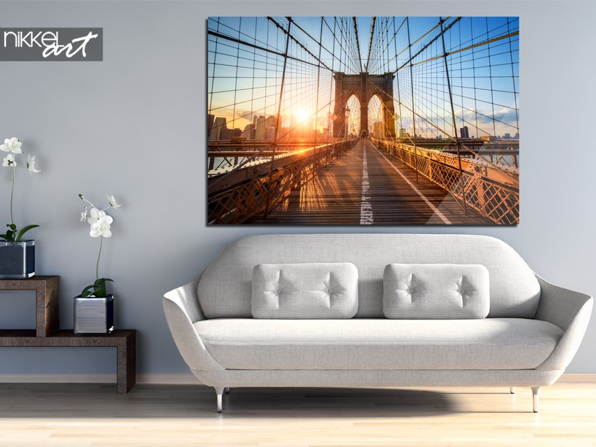 foto auf acrylglas brooklyn bridge. Black Bedroom Furniture Sets. Home Design Ideas