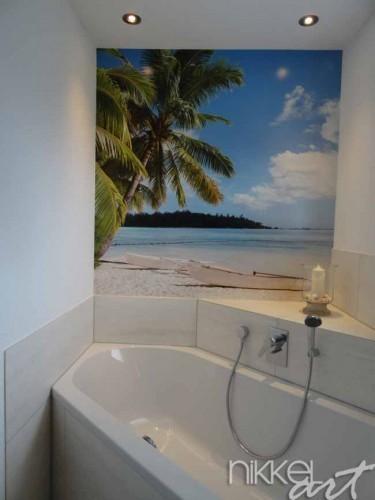 Fototapete im Badezimmer