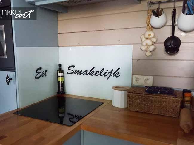 Küchenrückwand Glas Eet smakelijk
