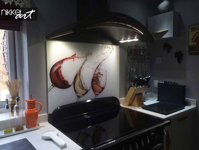 Küchenrückwand foto glas Wein