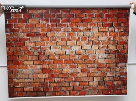 Rollo mit foto Ziegelmauer