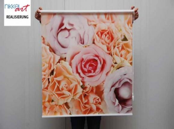 Rollo mit fotodruck Roses