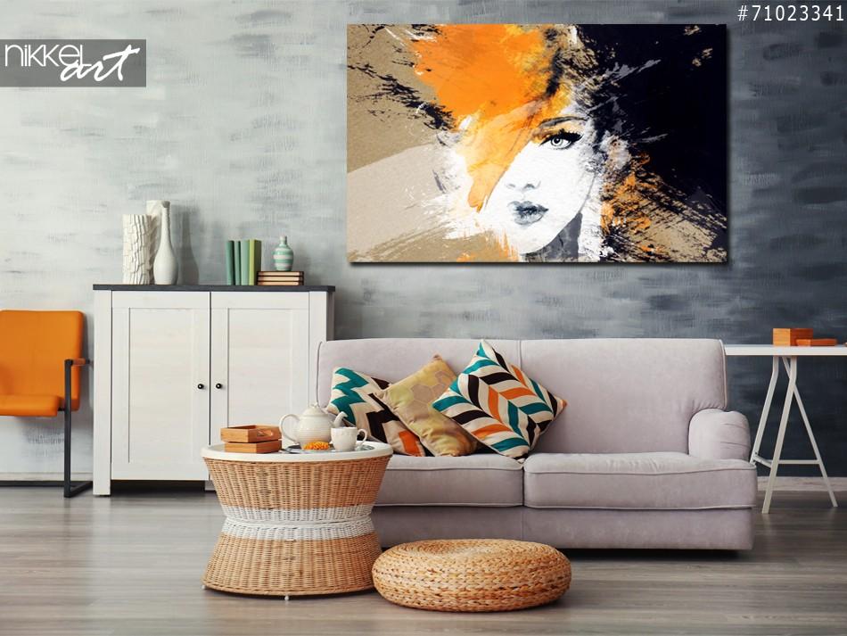 Foto auf Acrylglas Porträt der Frau