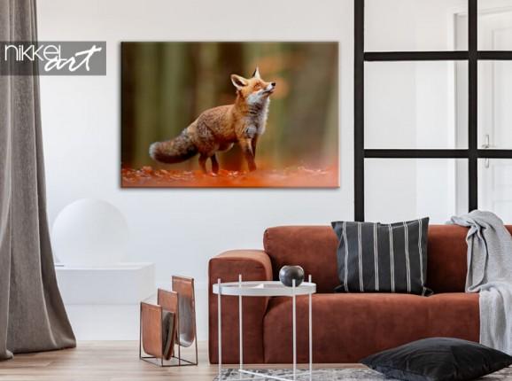 Fuchs auf Leinwand