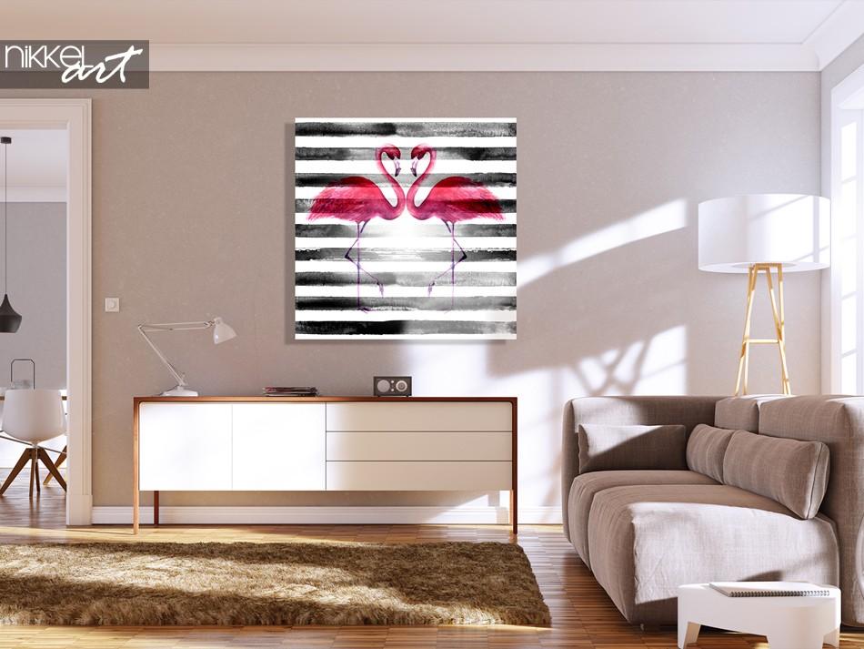 Flamingomalerei auf Plexiglas