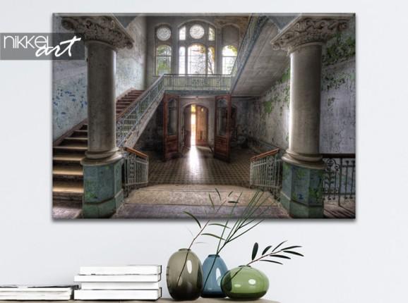 Foto von sanatorium Beelitz auf Leinwand