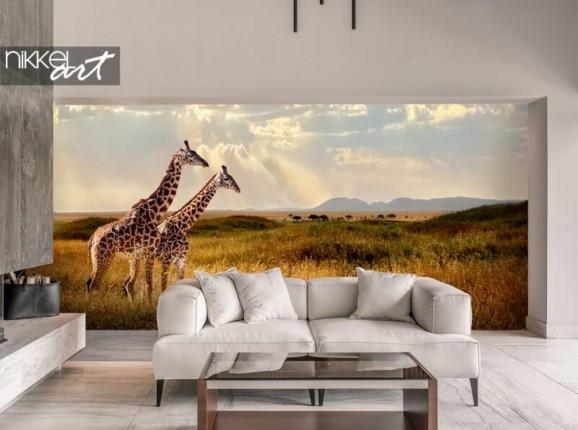 Fototapete mit Giraffen