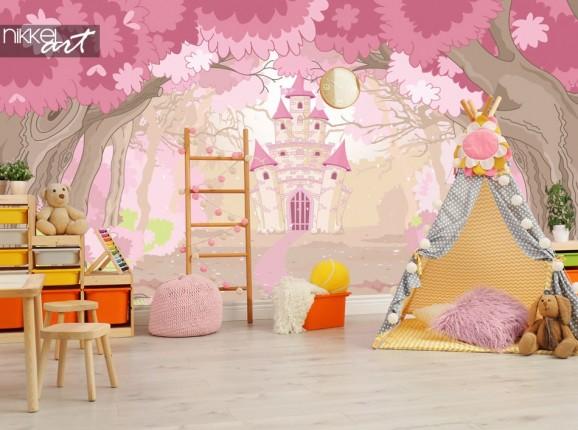 Fototapeten magisches Schloss für das Kinderzimmer