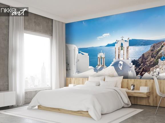 Santorini auf fototapete